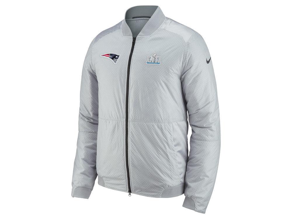 New England Patriots Nike NFL Men s Super Bowl LII Bomber Jacket ... 2dde0a3a7