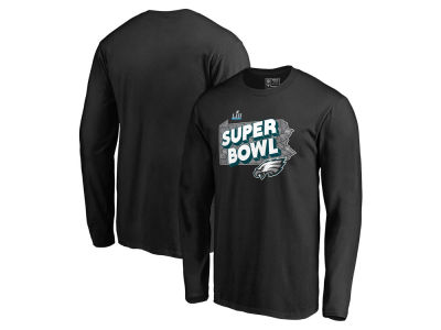 Philadelphia Eagles NFL Men's Super Bowl LII Bound Local State Trap Long Sleeve T-Shirt
