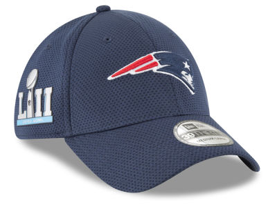 New England Patriots New Era NFL Super Bowl LII Patch Tech 39THIRTY Cap