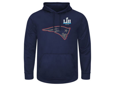 New England Patriots NFL Men's Super Bowl LII Bound Bold Reflective Hoodie