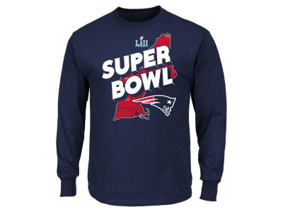New England Patriots NFL Men's Super Bowl LII Bound Local State Trap Long Sleeve T-Shirt