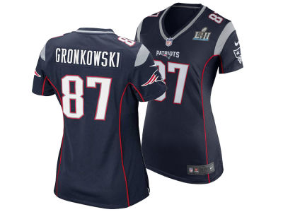 New England Patriots Rob Gronkowski Nike NFL Women's Super Bowl LII Patch Jersey