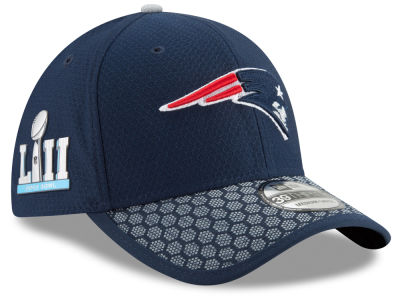 New England Patriots New Era NFL Super Bowl LII Patch Sideline 39THIRTY Cap
