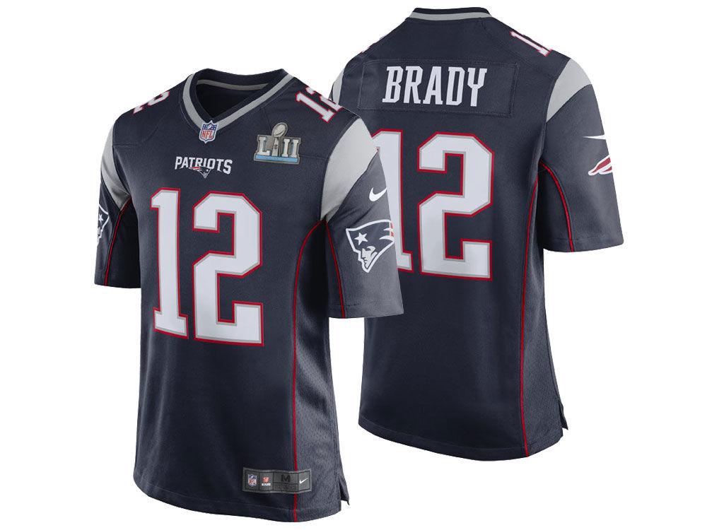 db3f6fef4 New England Patriots TOM BRADY Nike NFL Men s Super Bowl LII Patch Game  Jersey
