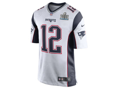 New England Patriots TOM BRADY Nike NFL Men's Super Bowl LII Patch Game Jersey