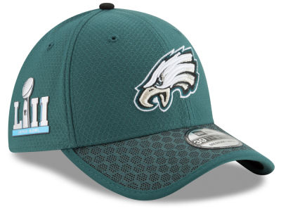 Philadelphia Eagles New Era NFL Super Bowl LII Patch Sideline 39THIRTY Cap