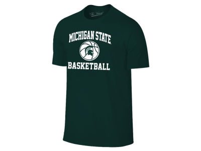 Michigan State Spartans NCAA Men's Arch & Logo Basketball T-Shirt