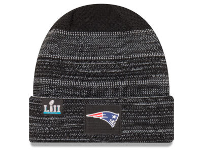 New England Patriots New Era NFL Super Bowl LII Sideline Cuff Knit