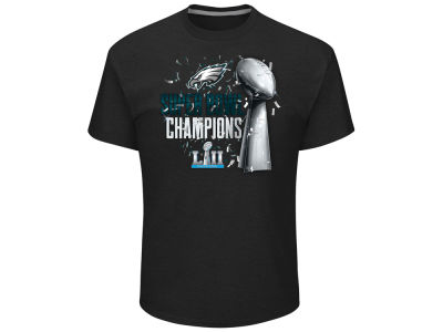 Philadelphia Eagles Majestic 2018 NFL Men's Super Bowl LII Champ Lombardi Parade T-shirt