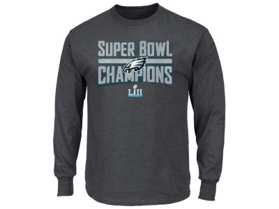 Philadelphia Eagles Majestic NFL Men's Super Bowl LII Champ Sudden Impact Long Sleeve T-shirt