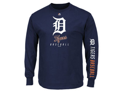 Detroit Tigers Majestic MLB Men's Game Supreme Long Sleeve T-Shirt