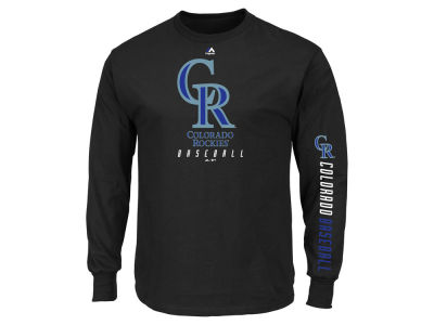 Colorado Rockies Majestic MLB Men's Game Supreme Long Sleeve T-Shirt