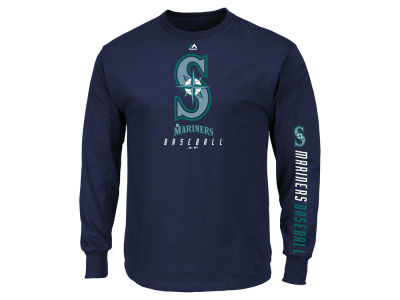 Seattle Mariners MLB Men's Game Supreme Long Sleeve T-Shirt