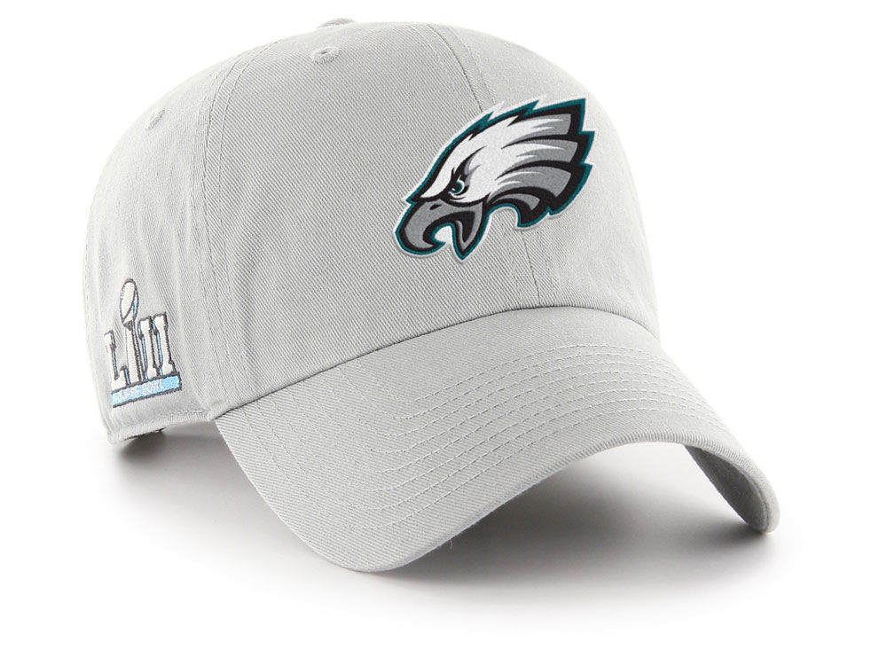 Philadelphia Eagles  47 NFL Super Bowl LII Team  47 CLEAN UP Cap ... 8621624d6