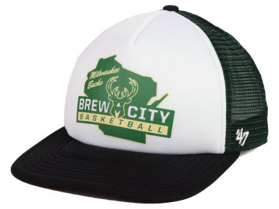 new arrival d56c9 dd37d Milwaukee Bucks  47 NBA Region Mesh MVP Cap
