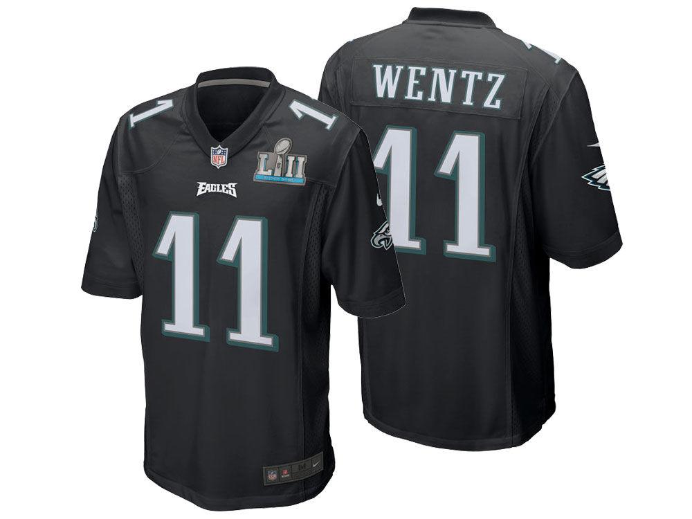 f1f126a2f Philadelphia Eagles Carson Wentz Nike NFL Men s Super Bowl LII Patch Game  Jersey