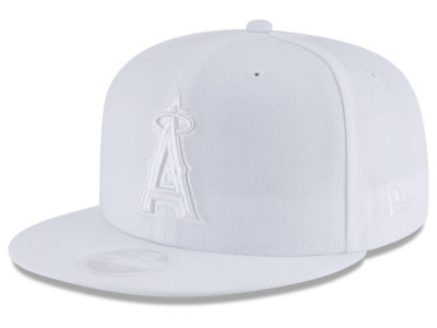 Los Angeles Angels New Era MLB All White Collection 59FIFTY Cap