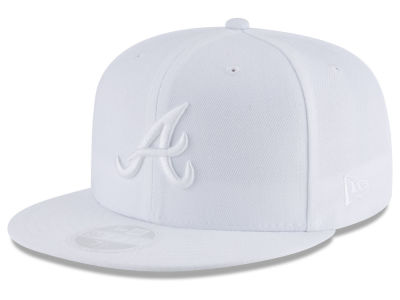 Atlanta Braves New Era MLB All White Collection 59FIFTY Cap