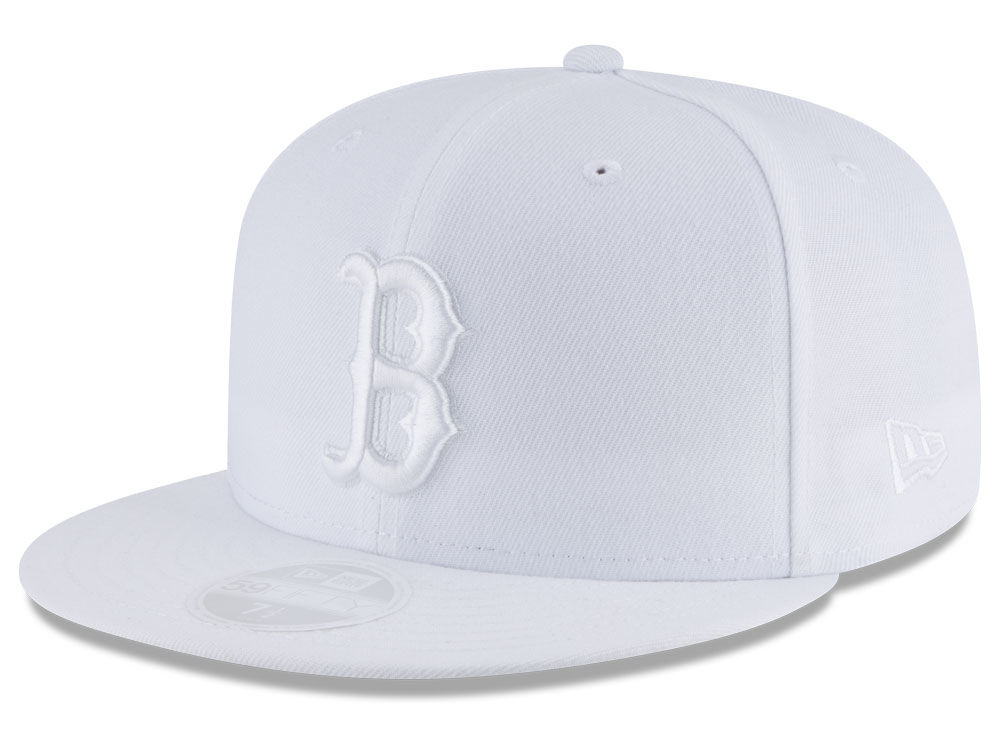 Boston Red Sox New Era MLB All White Collection 59FIFTY Cap  6ddd8634a463