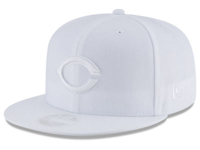 Cincinnati Reds New Era MLB All White Collection 59FIFTY Cap