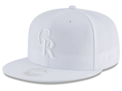 Colorado Rockies New Era MLB All White Collection 59FIFTY Cap