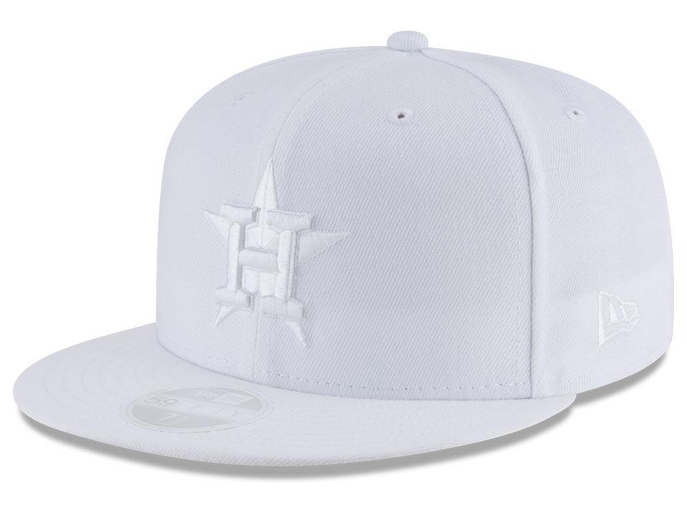 8da00bffda5 Houston Astros New Era MLB All White Collection 59FIFTY Cap