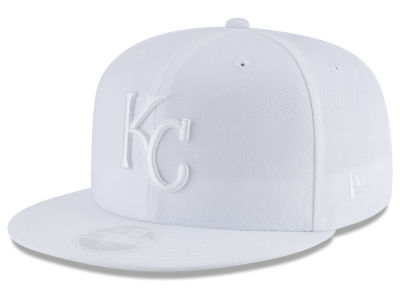 Kansas City Royals New Era MLB All White Collection 59FIFTY Cap