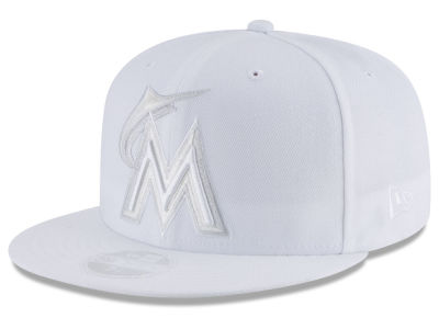 Miami Marlins New Era MLB All White Collection 59FIFTY Cap