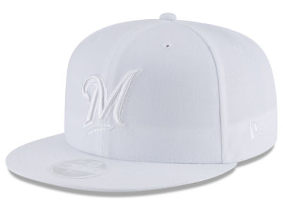 Milwaukee Brewers New Era MLB All White Collection 59FIFTY Cap