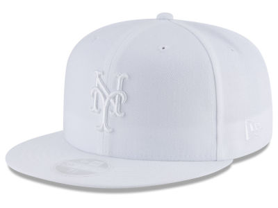 New York Mets New Era MLB All White Collection 59FIFTY Cap