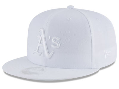 Oakland Athletics New Era MLB All White Collection 59FIFTY Cap