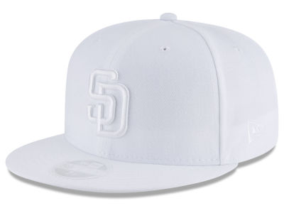 San Diego Padres New Era MLB All White Collection 59FIFTY Cap