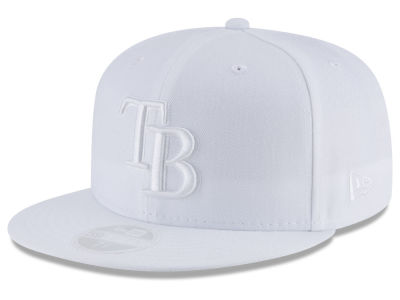Tampa Bay Rays New Era MLB All White Collection 59FIFTY Cap