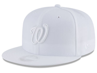 Washington Nationals New Era MLB All White Collection 59FIFTY Cap