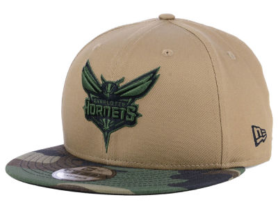 huge discount 55637 aad79 Charlotte Hornets New Era Nba Camo Tipping 9 Fifty Snapback Cap by Lids