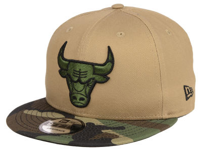 Chicago Bulls New Era NBA Camo Tipping 9FIFTY Snapback Cap