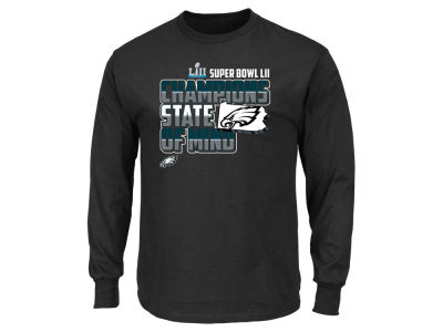 Philadelphia Eagles Majestic NFL Men's Super Bowl LII Champ State Hook Long Sleeve T-shirt