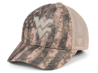 West Virginia Mountaineers Top of the World NCAA Camo Nation Cap