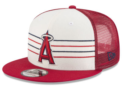 Los Angeles Angels New Era MLB Vintage Stripe 9FIFTY Snapback Cap