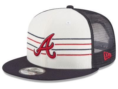 Atlanta Braves New Era MLB Vintage Stripe 9FIFTY Snapback Cap