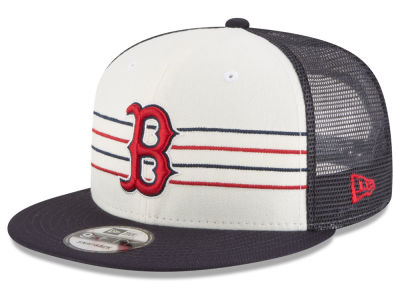 Boston Red Sox New Era MLB Vintage Stripe 9FIFTY Snapback Cap