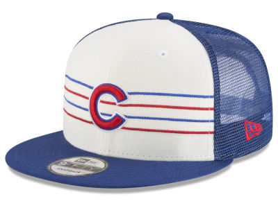 Chicago Cubs New Era MLB Vintage Stripe 9FIFTY Snapback Cap