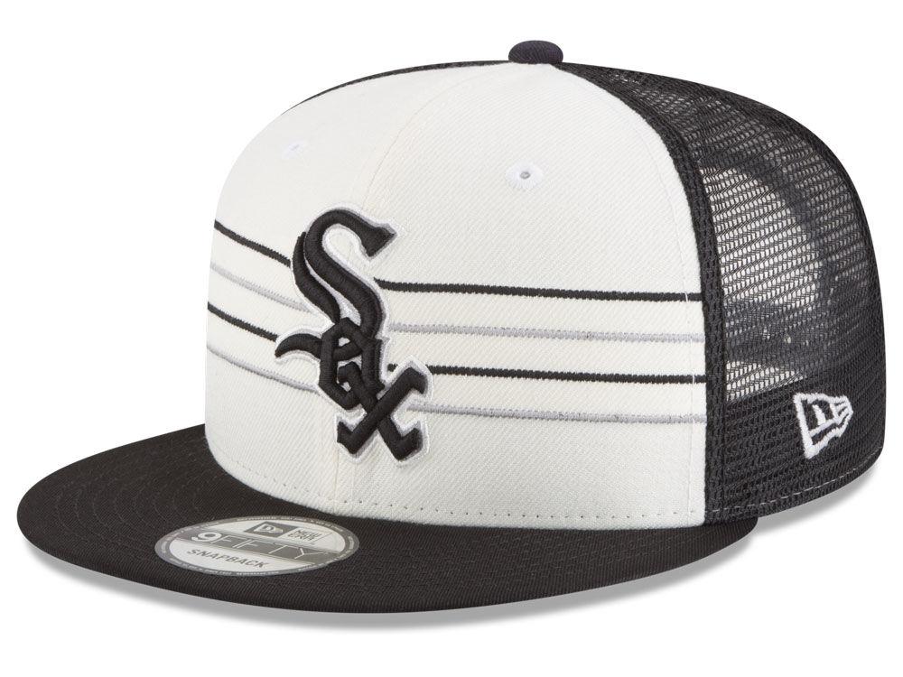 Chicago White Sox New Era MLB Vintage Stripe 9FIFTY Snapback Cap ... 1c2b0698ead2