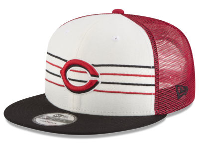 Cincinnati Reds New Era MLB Vintage Stripe 9FIFTY Snapback Cap