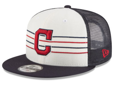 Cleveland Indians New Era MLB Vintage Stripe 9FIFTY Snapback Cap