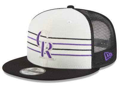 Colorado Rockies New Era MLB Vintage Stripe 9FIFTY Snapback Cap