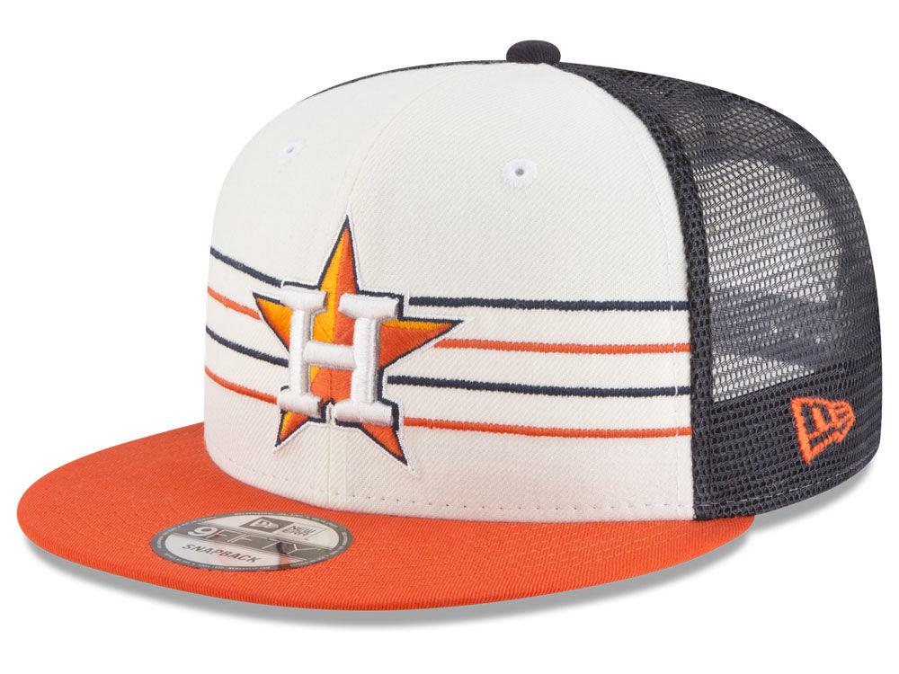 83a03332150 Houston Astros New Era MLB Vintage Stripe 9FIFTY Snapback Cap