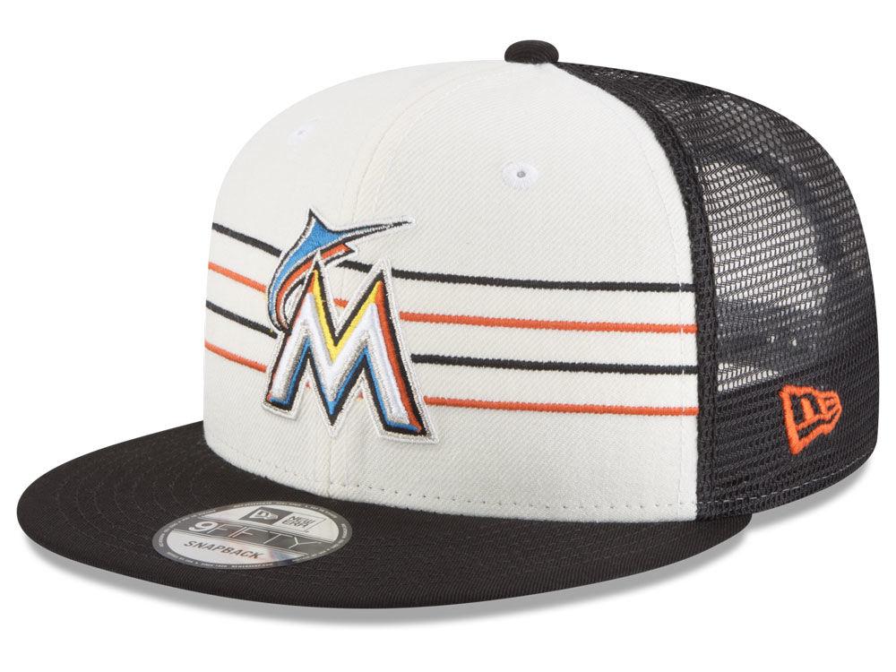 Miami Marlins New Era MLB Vintage Stripe 9FIFTY Snapback Cap  90f075e31e43