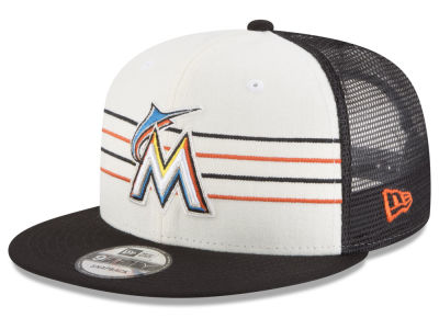 Miami Marlins New Era MLB Vintage Stripe 9FIFTY Snapback Cap