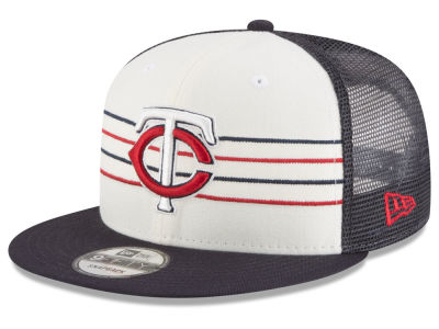 Minnesota Twins New Era MLB Vintage Stripe 9FIFTY Snapback Cap
